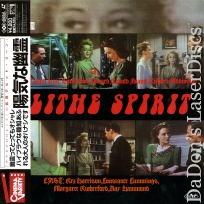 Blithe Spirit Mega-Rare Japan Only LaserDisc Cummings Sci-Fi Comedy