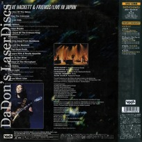 Steve Hackett & Friends Live in Japan Only NEW LaserDisc Concert