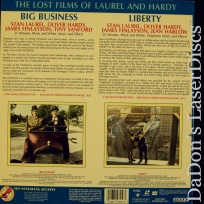 Big Business Liberty Double Rare NEW Silent LaserDisc Comedy