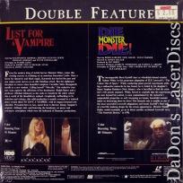 Lust for a Vampire Die Die Monster! Double LaserDisc