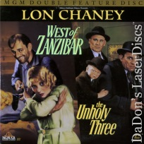 West of Zanzibar The Unholy Three Rare LaserDisc Chaney Barrymore Action