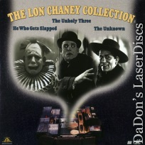 The Lon Chaney Collection Triple Silent LaserDisc Drama