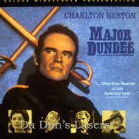 Major Dundee WS LaserDisc Heston Coburn Oates Hutton War Western