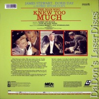 The Man Who Knew Too Much NEW Rare LaserDisc Hitchcock Stewart Thriller