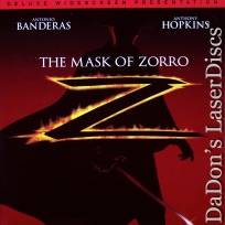 The Mask of Zorro LaserDisc AC-3 WS NEW Banderas Hopkin Action