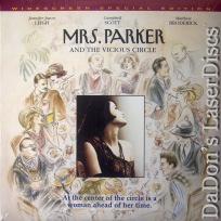Mrs. Parker and the Vicious Circle DSS WS NEW LaserDisc