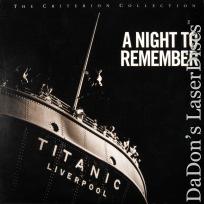 A Night To Remember Criterion #250 LaserDisc Titanic Drama