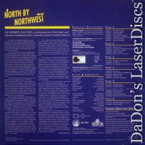 North by Northwest CAV WS Criterion #45 LaserDisc Box Action Thriller
