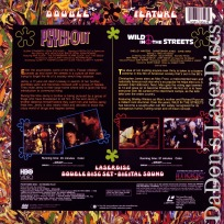 Psych Out / Wild In The Streets LaserDisc Nicholson Drama