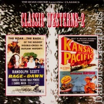 Rage at Dawn / Kansas Pacific Roan LaserDisc NEW Double Western