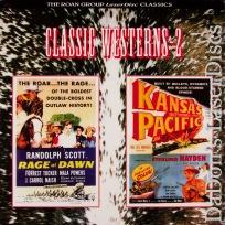 Rage at Dawn / Kansas Pacific Roan LaserDisc NEW Double Western