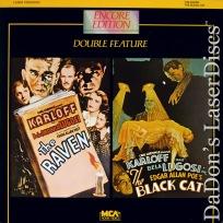 The Raven The Black Cat Rare LaserDisc Karloff Lugosi