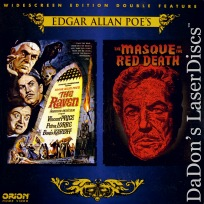 The Raven Masque of Red Death WS Double LaserDiscs Horror