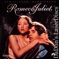 Romeo & Juliet 1968 Remastered WS NEW LaserDisc Hussey Whiting Romantic Drama