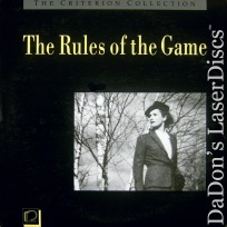 The Rules of the Game Criterion NEW CAV #50 LaserDisc Vintage Drama