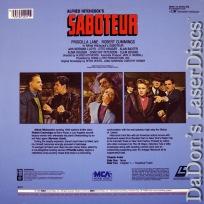 Saboteur Encore NEW Rare Lane Hitchcock Spy LaserDisc Mystery
