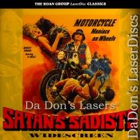 Satan\'s Sadists Unrated Widescreen NEW Roan Mega-Rare LaserDisc Biker Horror