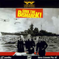 Sink the Bismarck WS Rare LaserDisc More Wynter WAR