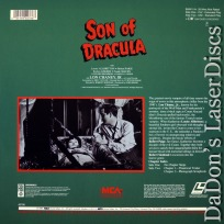 Son of Dracula Encore LaserDisc Allbritton Paige Horror