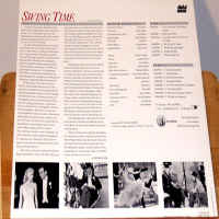 Swing Time 1936 Criterion #6A NEW LaserDisc Astaire Rogers Musical