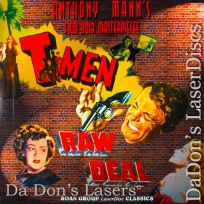 T-Men / Raw Deal Roan Double Feature LaserDisc Noir Thriller