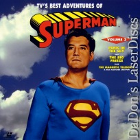 TV\'s Best Adventures of Superman 3 LaserDisc Reeves Hero Adventure