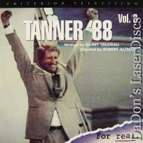 Tanner \'88 vol. 3 Criterion NEW LaserDisc Murphy Reed Comedy