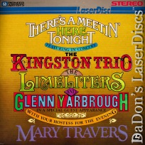 There\'s a Meetin\' Here Tonight LaserDisc Kingston Trio Travers Concert Music