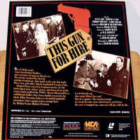 This Gun for Hire Rare LaserDisc Ladd Lake Thriller *CLEARANCE*