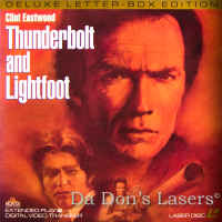 Thunderbolt and Lightfoot WS Rare LaserDisc Eastwood