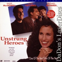 Unstrung Heroes AC-3 WS LaserDisc MacDowell Turturro Comedy