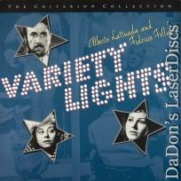 Variety Lights Criterion #279 Rare LaserDisc LD Vintage Italian Drama Foreign