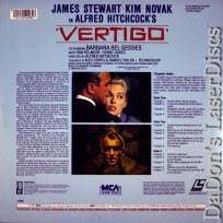 Vertigo +CAV LaserDisc Hitchcock Stewart Novak Thriller