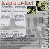 The World, the Flesh, and the Devil WS Rare NEW LaserDisc No DVD