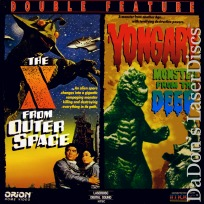 X From Outer Space Yongary Monster from Deep LaserDiscs