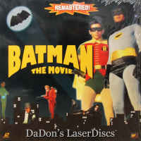 Batman The Movie Mega-Rare Remastered LaserDisc Adam West Sci-Fi