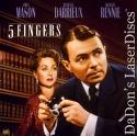 5 Fingers Rare LaserDisc Mason True Story WWII Spy