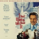 I Don't Want to Talk About It Rare LaserDisc NEW WS Mastroianni Drama Foreign