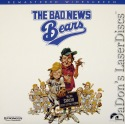 The Bad News Bears RM WS NEW LaserDisc Matthau O'Neal Comedy