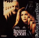 Benefit of the Doubt Rare NEW LaserDisc Sutherland Thriller