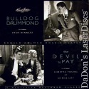 Bulldog Drummond The Devil to Pay NEW Double LaserDisc Drama