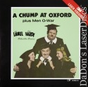 A Chump at Oxford / Men O' War Rare LaserDisc Laurel Hardy Comedy