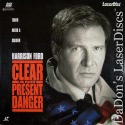 Clear And Present Danger AC-3 Mega-Rare Full-Screen NEW LaserDisc Ford Thriller