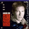 Clear And Present Danger - First AC-3 Pressed - WS LaserDisc Ford Archer Thriller