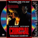 Criminal Law DSS LaserDisc LD Oldman Bacon Thriller *CLEARANCE*