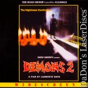 Demons 2 AC-3 WS Roan LaserDisc Rare UNCUT Bava Horror
