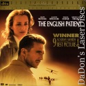 The English Patient NEW DTS LaserDisc THX WS Fiennes Drama