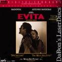 Evita DTS THX Widescreen LaserDisc Mega-Rare LD Madona Banderas Musical