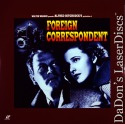 Foreign Correspondent 1940 LaserDisc Hitchcock Reporter Finds Conspiracy Mystery