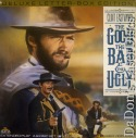 The Good, The Bad and The Ugly WS Rare LaserDisc Eastwood Western